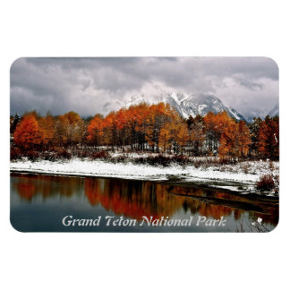 FRST SNOW AT OXBOW BEND IN GRAND TETON MAGNET