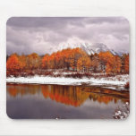 FRST SNOW AT OXBOW BEND IN GRAND TETON MOUSE PADS