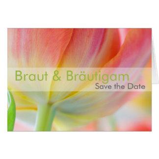 Fruehling • Ahorre la fecha Karte Tarjeta De Felicitación