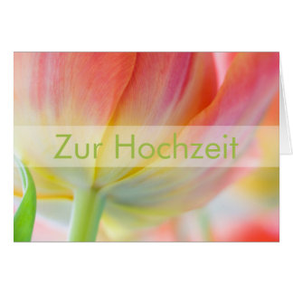 Fruehling • Glueckwunschkarte Hochzeit Tarjeta De Felicitación
