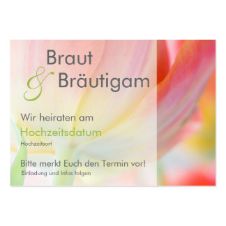 Fruehling • Save the Date Mini Karten Large Business Card