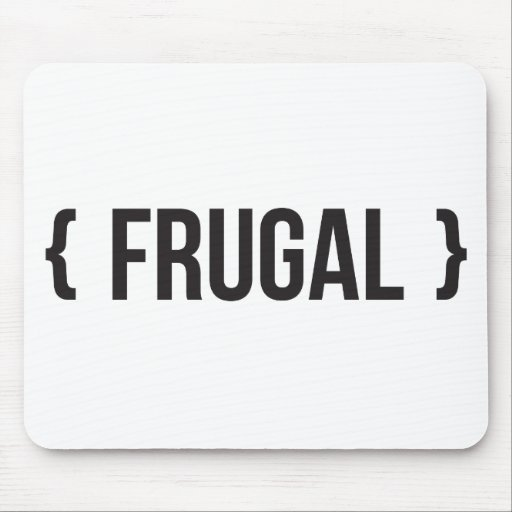 Frugal - Bracketed - Black and White Mouse Pads
