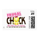 Frugal Chick Postage Stamp