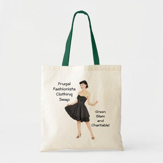 "Frugal Fashionista Clothing Swap ""Green"" Tote Bag"