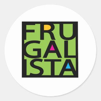 FRUGALISTA/GREEN PEGATINA REDONDA
