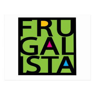 FRUGALISTA/GREEN POSTCARD