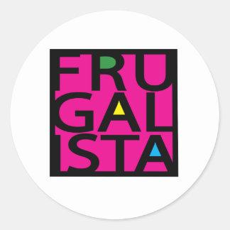 FRUGALISTA/PINK ETIQUETA REDONDA