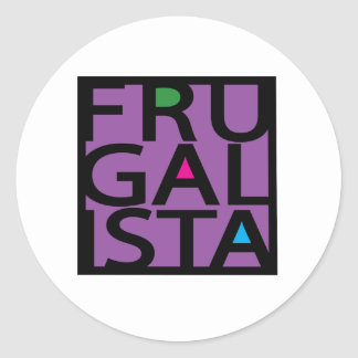 FRUGALISTA/PURPLE ETIQUETA REDONDA