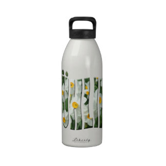 Frühling spring with daffodils. drinking bottle