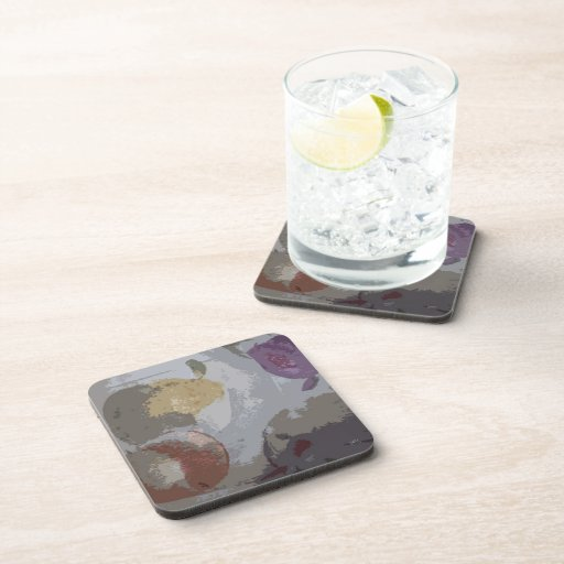 Fruit Abstract #4 Beverage Coaster
