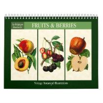 Fruit and Berries Vintage Botanical 2019 Calendar