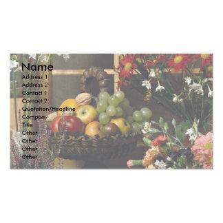 Fruit and flower arrangements business card