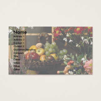Fruit and flower arrangements business card