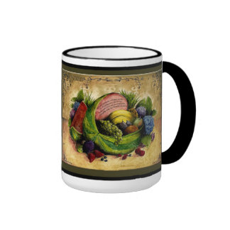 Fruit and Flowers Wedding Anniversary mug