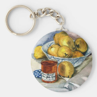 Fruit and Jam Basic Round Button Keychain