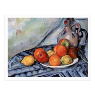 Fruit and Jug on a Table by Paul Cezanne Postcard
