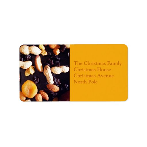 Fruit and Nut Personalized Address Labels