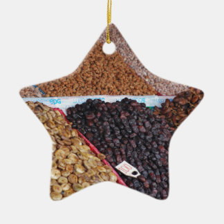 Fruit and Nut stand Ceramic Ornament