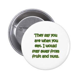 Fruit And Nuts Pinback Buttons