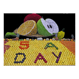 Fruit and Vegetable: 5 a Day! Posters