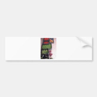 Fruit and vegetable boxes bumper sticker