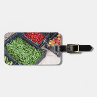 Fruit and vegetable boxes luggage tag