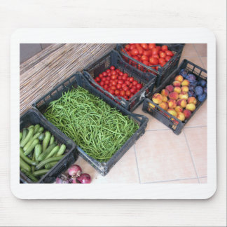 Fruit and vegetable boxes mouse pad