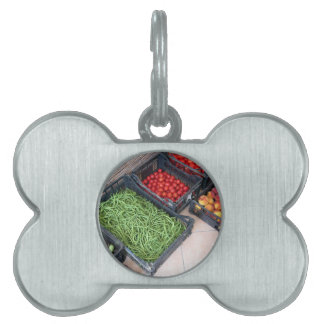 Fruit and vegetable boxes pet ID tag
