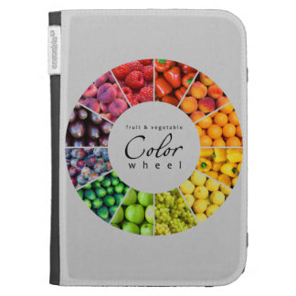 Fruit and vegetable color wheel (12 colors) kindle folio cases
