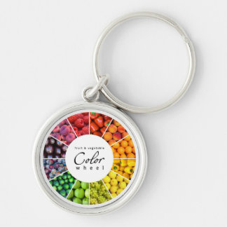 Fruit and vegetable color wheel (12 colors) keychain