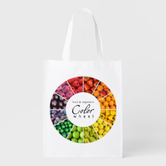 Fruit and vegetable color wheel (12 colors) market tote