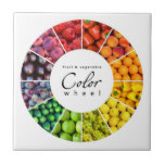 Fruit and vegetable color wheel (12 colors) ceramic tile
