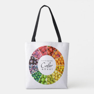 Fruit and vegetable color wheel (12 colors) tote bag