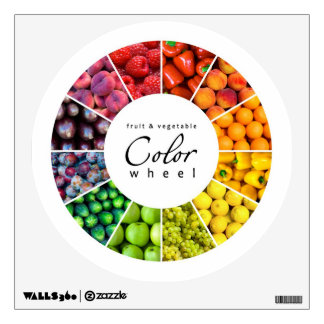 Fruit and vegetable color wheel (12 colors) room decals