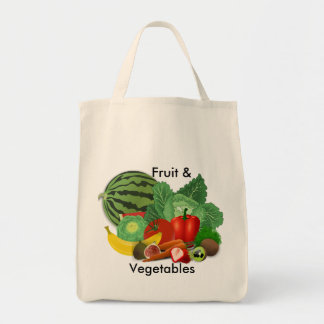 Fruit And Vegetable Grocery Tote Bag