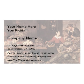 Fruit and Vegetable Market  by Frans Snyders Business Card Template