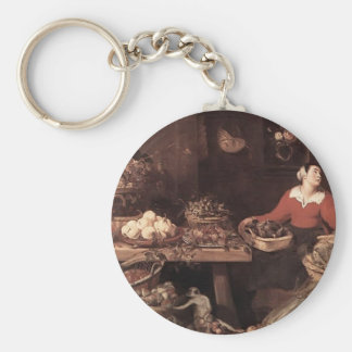 Fruit and Vegetable Market  by Frans Snyders Keychains