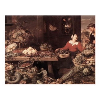 Fruit and Vegetable Market  by Frans Snyders Post Card