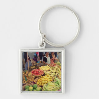 Fruit and vegetable stall key chains