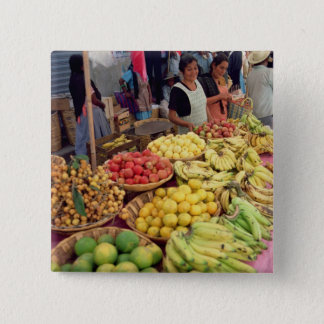Fruit and vegetable stall pinback button