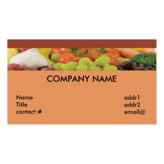 fruit and vegetable strip Double-Sided standard business cards (Pack of 100)