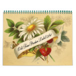 Fruit and Vegetable Vintage Labels Calendar