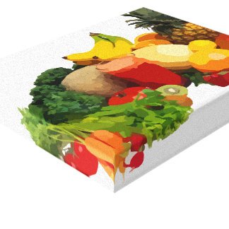 Fruit and Vegetable Wrapped Canvas Art