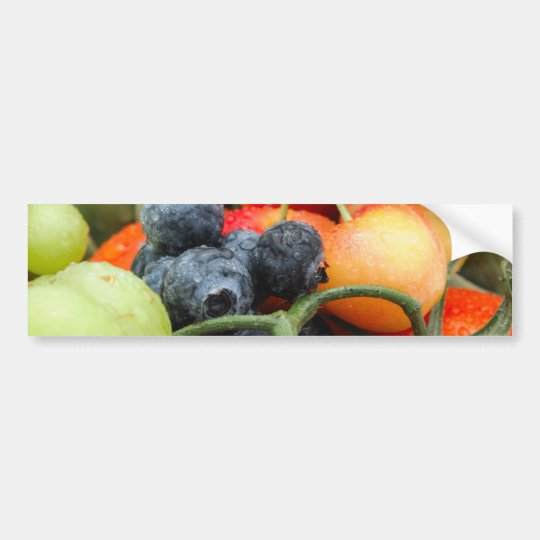 Fruit and Vegetables Bumper Sticker