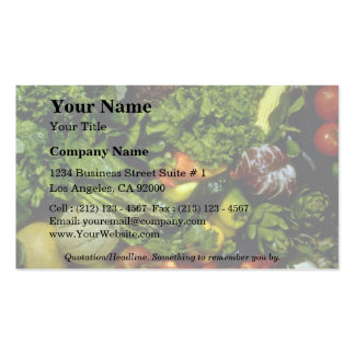 Fruit and vegetables business cards