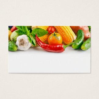 fruit and vegetables dealer business card template