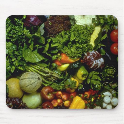 Fruit and vegetables mouse pad