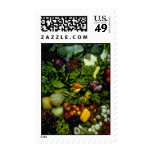 Fruit and vegetables postage stamps