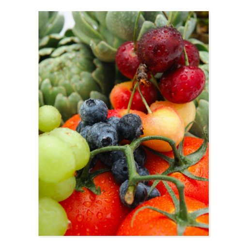 Fruit and Vegetables Postcard
