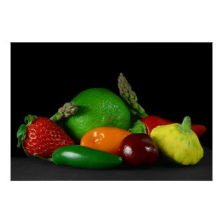 fruit and vegetables poster FROM 14.95